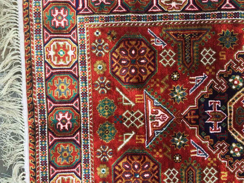 hermosa autentica  alfombra persa gran colorido excelente