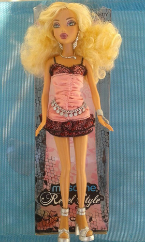 hermosa barbie - my scene rebel style kennedy - barbie doll