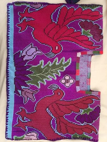 hermosa blusa bordada a mano unica, estilizada