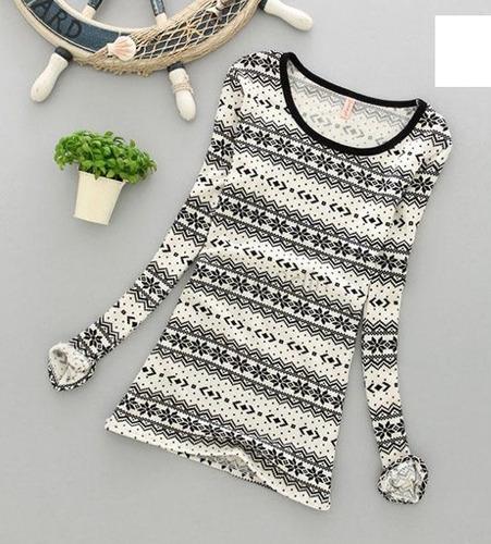 hermosa blusa, camiseta blanca y negro talla s 100% nueva