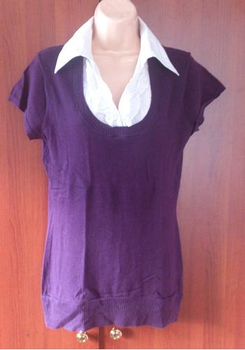 hermosa blusa con cuello integrado