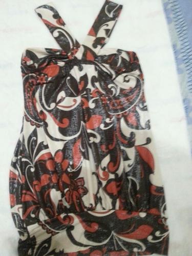 hermosa blusa de vestir tela brillante. completamente nueva.
