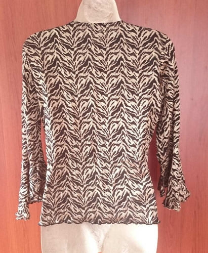 hermosa blusa encaje stretch americana talla m nueva rematoo