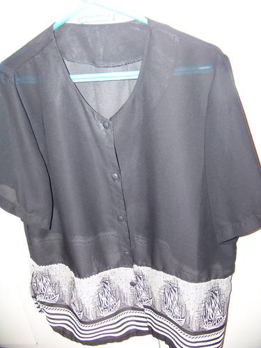 hermosa bluza seda ,talle grande
