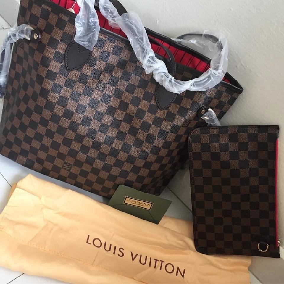32d6542709 Hermosa Bolsa Lv Louis Vuitton Neverfull Original - $ 4,000.00 en ...