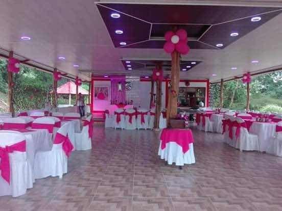 hermosa cabaña con salón de eventos