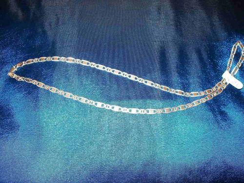 hermosa cadena de plata 925 modelo eslabón chato 45 cm.