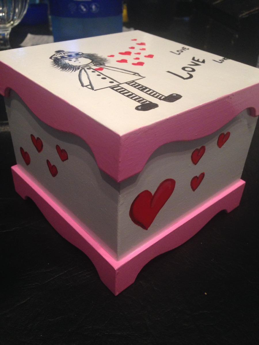 Hermosa Caja Madera Decorada Ideal Regalos 250 00 En Mercado Libre