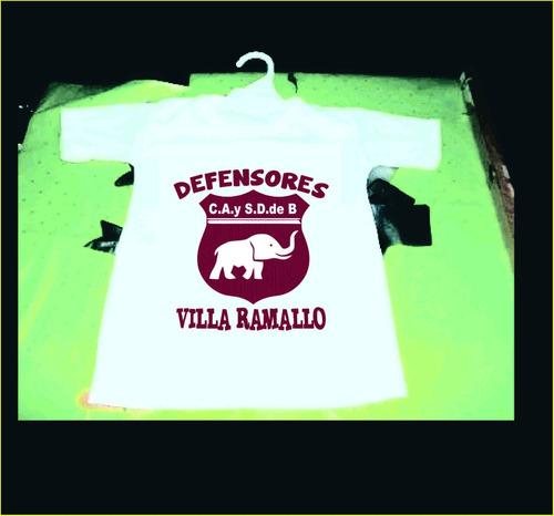 hermosa camiseta de bebe de defensores de villa ramallo