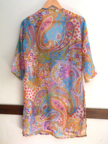 hermosa camisola de india de gasa con bordado increíble!!!