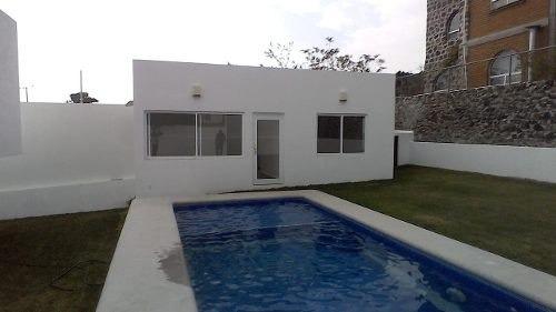 hermosa casa con bungalow frente alberca