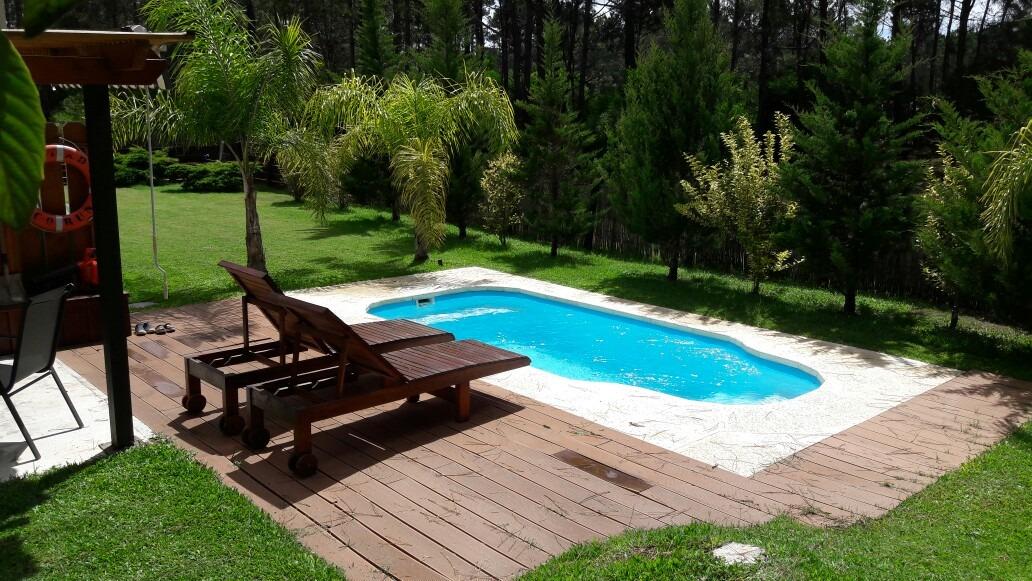 hermosa casa c/piscina, cercada punta del este