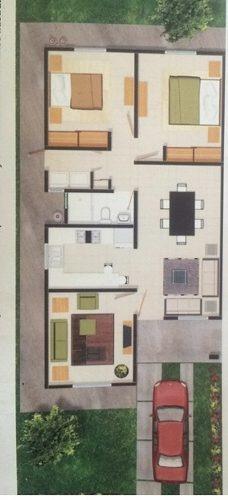 hermosa casa de un piso en fraccionamiento privado al norte
