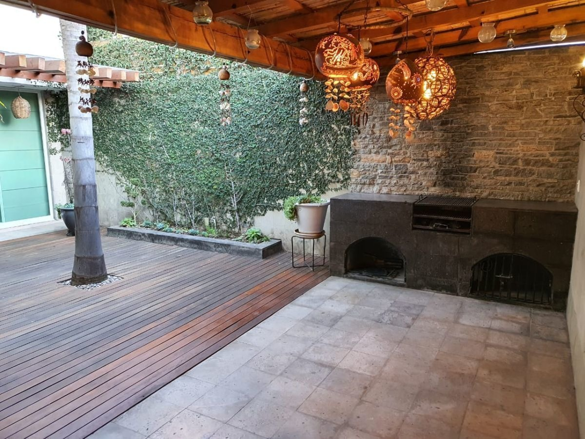 hermosa casa en milenio, 4 recamaras, una en pb, 3.5 baños, roof garden, bar...