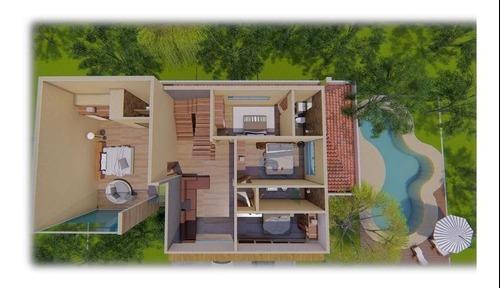 hermosa casa en privada kambul modelo lukum preventa