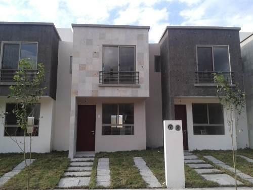hermosa casita nueva en renta en fracc. residencial del parque qro. mex.