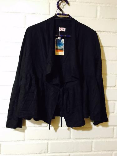 hermosa chaqueta umbrale con parches de colores nueva