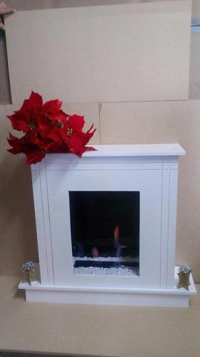 hermosa chimenea navideña fuego real envíos a todo el país