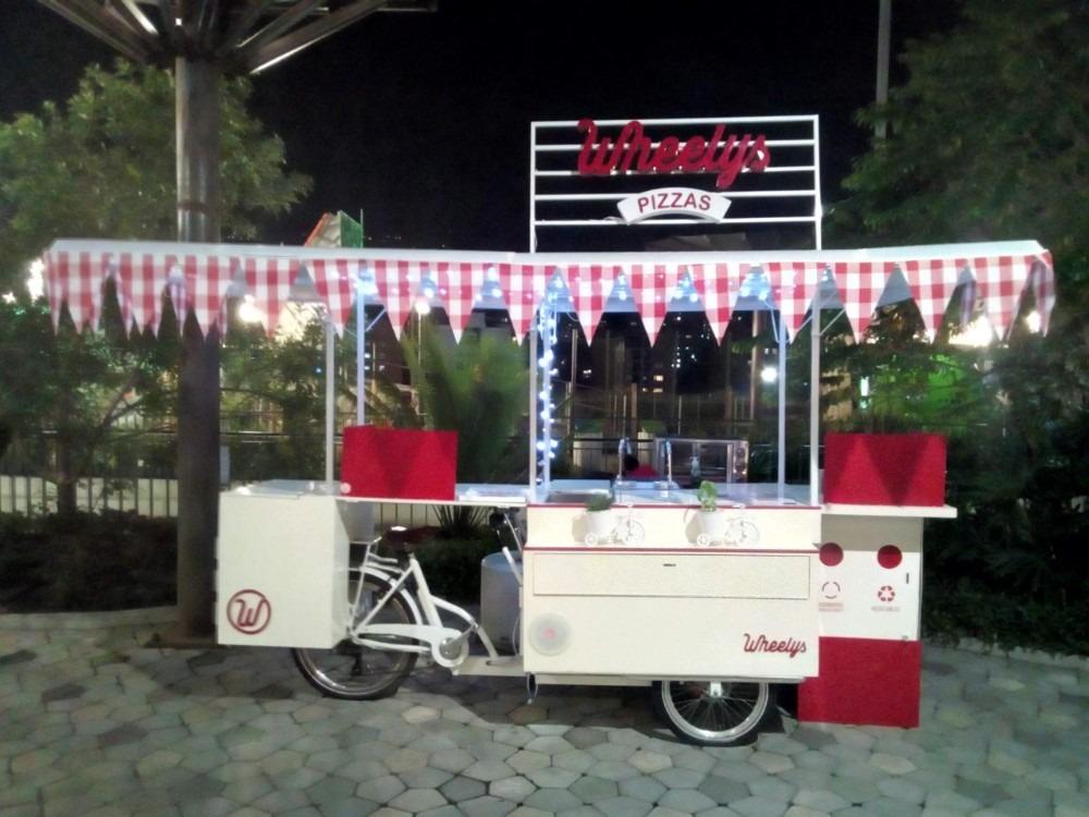 hermosa eco bicicleta para venta de alimentos