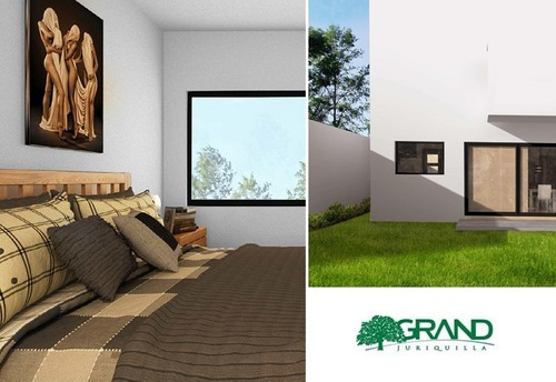 hermosa en grand juriquilla, 3 recámaras, jardín, estudio, roof garden, alberca