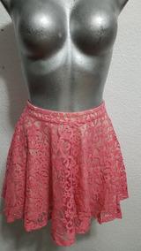 nueva estilos super especiales elegante y elegante Hermosa Falda Corta H & M De Encaje Color Coral Talla Xs