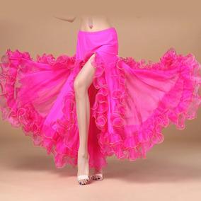 27a972a9a Hermosa Falda De Danza Arabe Bellydance Flamenco , Escarolas
