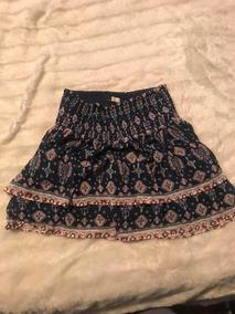 8429e51d6 Falda Negra Estampado De Florecitas - Faldas al mejor precio en ...
