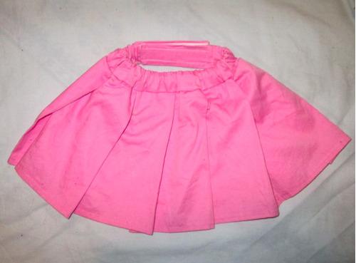 hermosa falda para perrita talla m, l color rosa 100% nueva