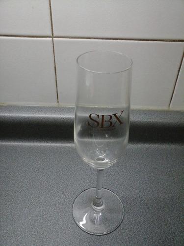 hermosa flauta cristal italiano logo sbx