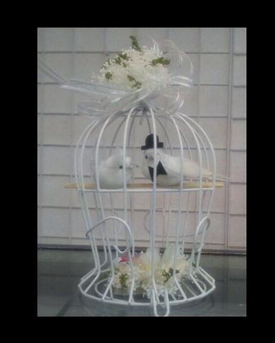 hermosa jaula decorativa 10cm ancho x16 cm de alto $42pza