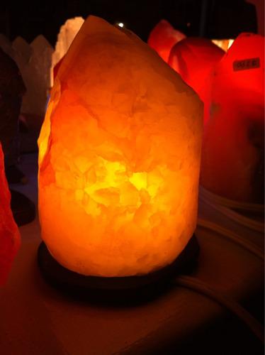 hermosa lámpara de aragonita blanca