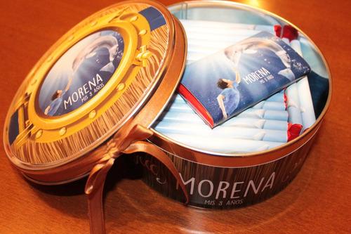 hermosa lata con 20 chocolates totalmente personalizado!!!!