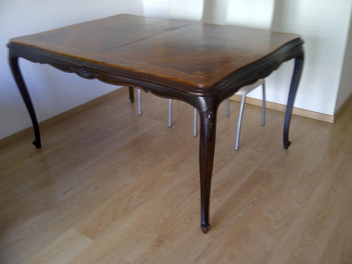 Hermosa Mesa Antigua De Comedor Original Estilo Frances - $ 19.500 ...