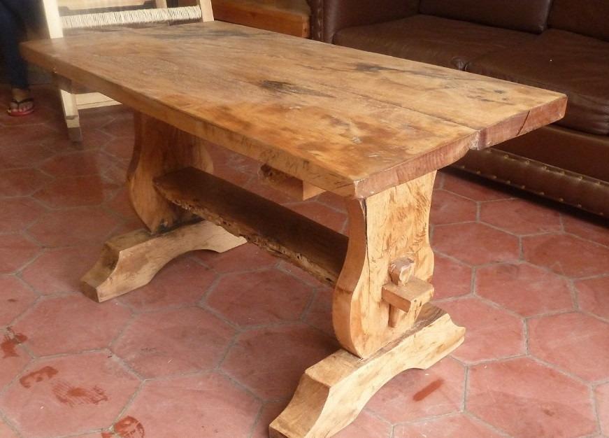 Hermosa mesa de centro madera de mezquite envio gratis for Mesa centro madera