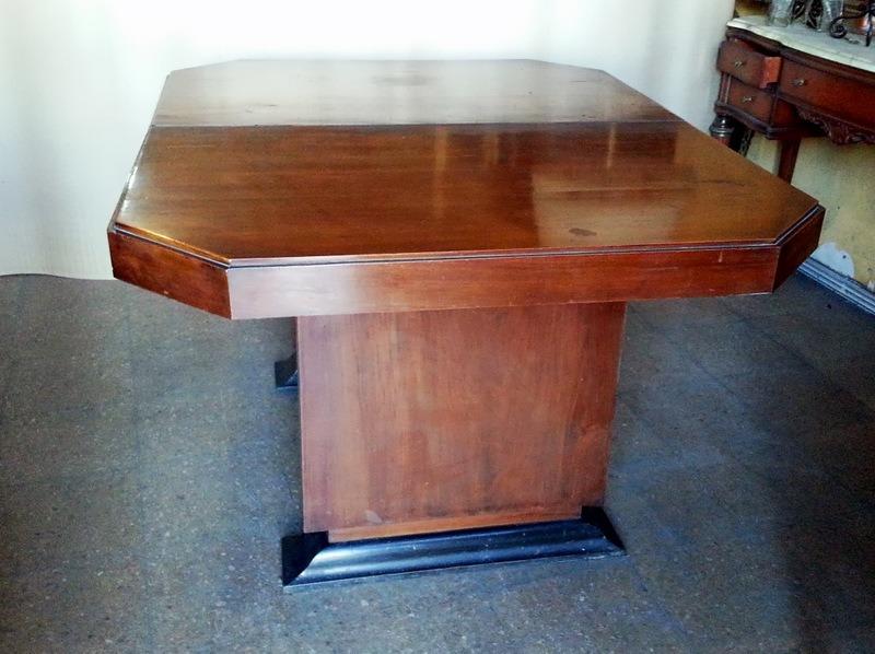 Hermosa mesa de comedor diseño art deco extensible vintage ...