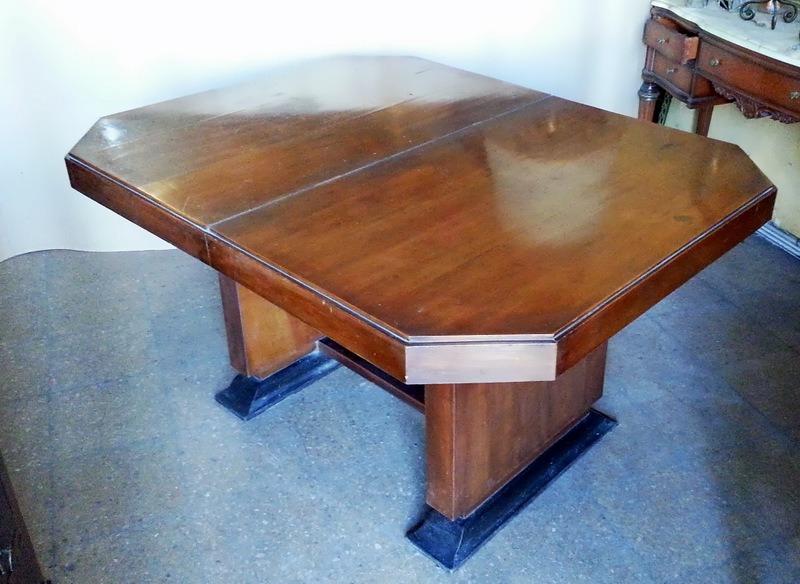 Hermosa Mesa De Comedor Diseño Art Deco Extensible Vintage ! - $ 12.900,00