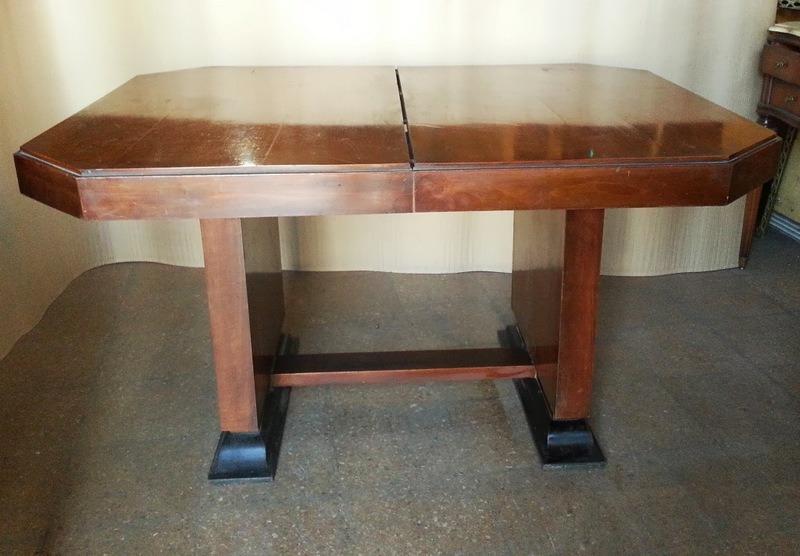 hermosa mesa de comedor diseo art deco extensible vintage cargando zoom