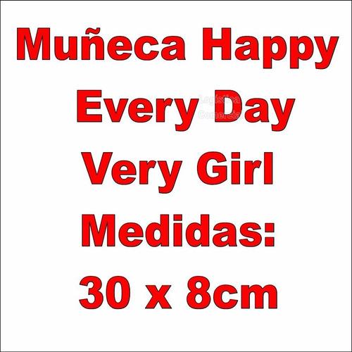 hermosa muñeca happy every day vestido  niñas regalo