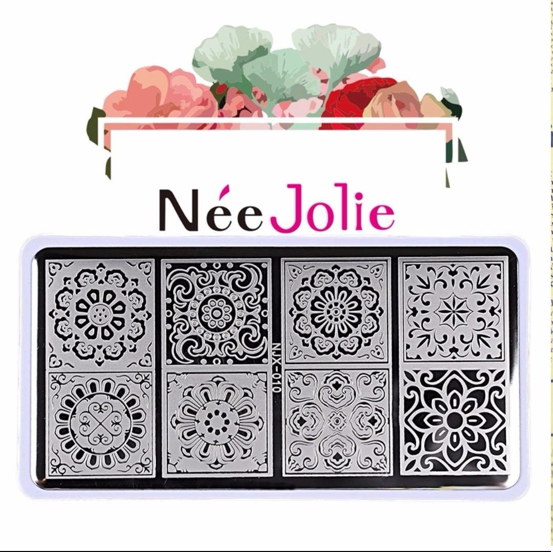 Hermosa Placa Nee Jolie Con Diseños Mandala +accesorio