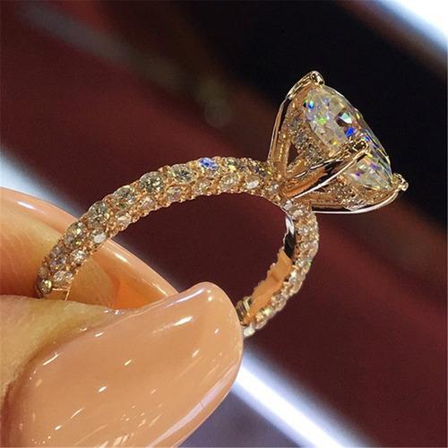 hermosa princesa anillo parpadeante moda moderno compromiso