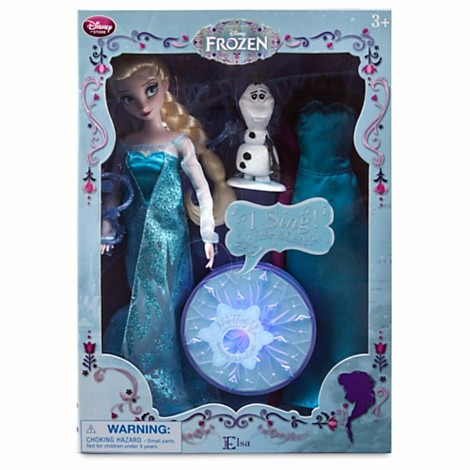 hermosa princesa elsa de disney -singing doll- set de lujo