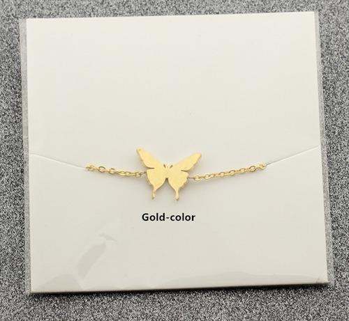 hermosa pulsera con dije mariposa acero inoxidable dama niña