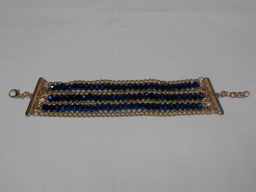 hermosa pulsera de 3 hilos con cadena