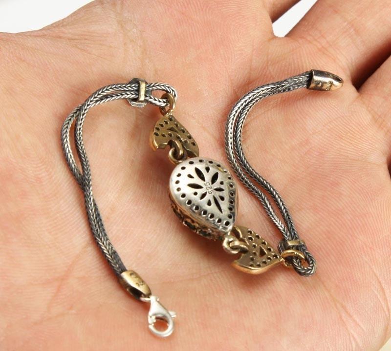 Hermosa pulsera de plata turca en mercado libre - Cuberterias de plata precios ...