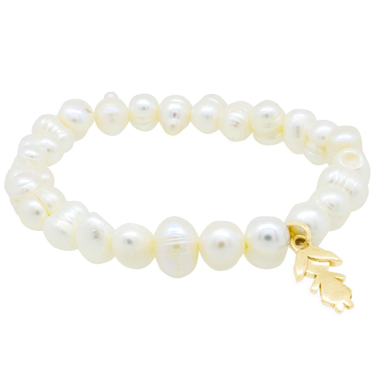 c043dc6164e2 hermosa pulsera perlas dije de niña oro 10k nuni original. Cargando zoom.