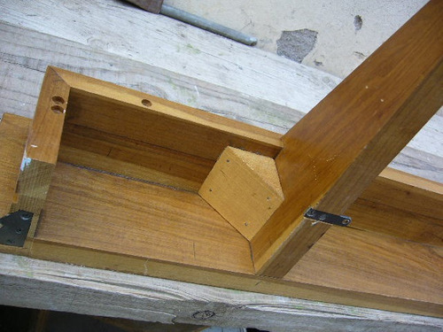 hermosa   repisa madera masiza