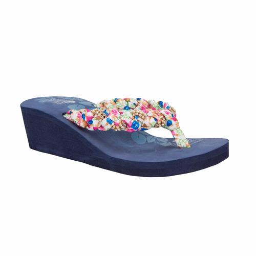 hermosa sandalia de playa con piedras 148021