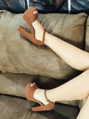hermosa sandalia para dama de plataforma, envío gratis