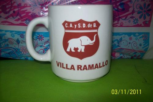 hermosa taza ceramica de defensores de villa ramallo