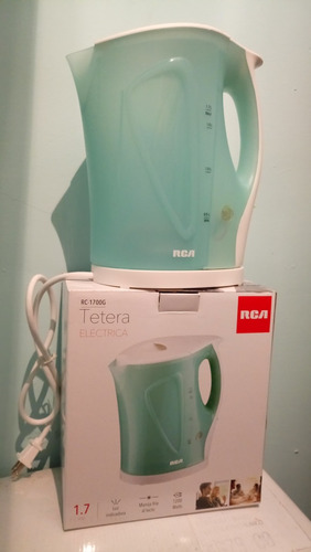 hermosa tetera calentador de agua 1.7 litros rca 1año garant
